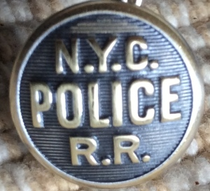 NYC Police RR Brass Button 6