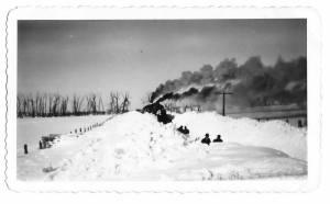Snow on the Lackawanna Railroad