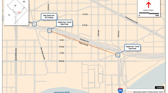 Federal highway agency OKs construction alternative for CSX tunnel project in D.C.