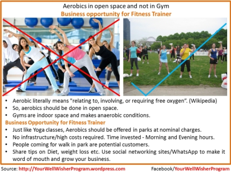Aerobics in Open Space and not in Gym