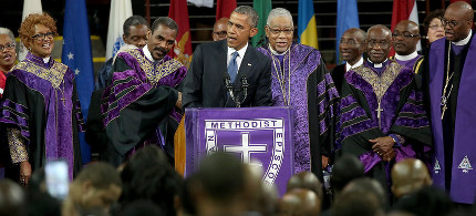 Obama Takes On Guns and Racism in Emotional Eulogy for Rev. Clementa Pinckney
