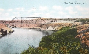 Winslow, Arizona Clear Creek bridge