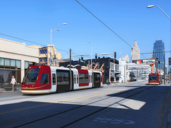 Kansas City Streetcar wires go live