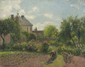 The Artist's Garden at Eragny by Pisarro, 1898