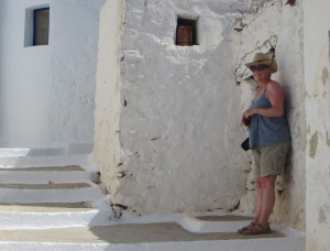 Shady Relief in Amorgos Greece