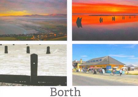 Borth Postcard