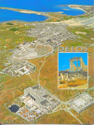 Delos Greece Postcard