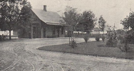Hyde Park, New York Railroad Station in the Hudson Valley.