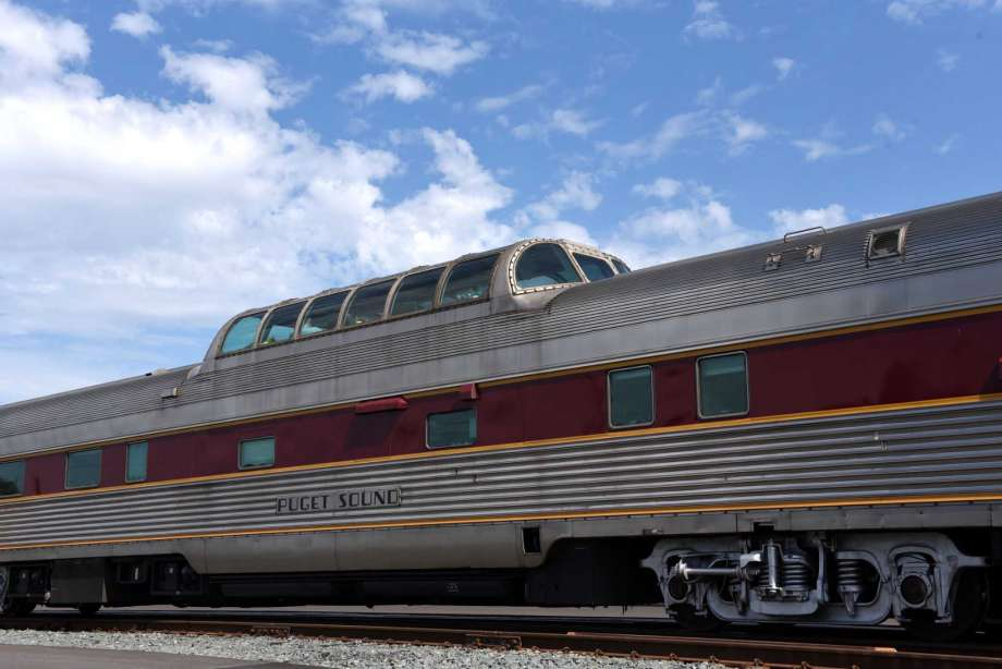 Vintage private railcars are mustered at Albany-Rensselaer Train Station