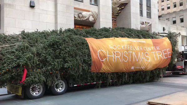 2017 Rockefeller Center Christmas Tree Arrives In New York City