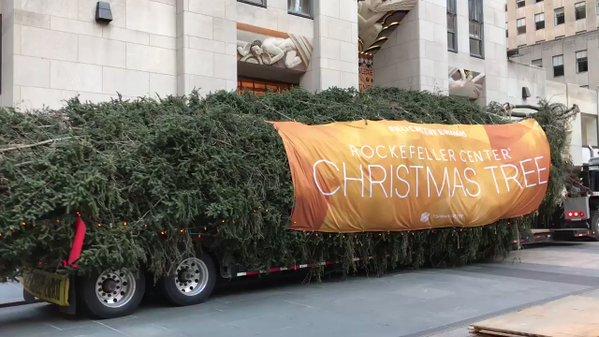 2017 Rockefeller Center Christmas Tree Arrives In New York City
