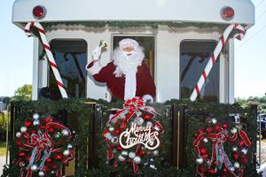 Florida East Coast Railway and Santa once again deliver Christmas gifts to Children by Rail