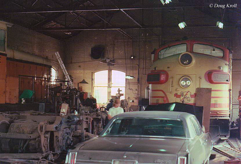 A TRAIN ENGINE IN THE GARAGE!