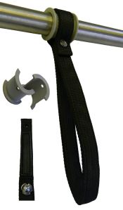 Black nylon grab handle for buses